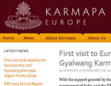 Karmapa Foundation Europe website