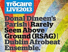 Promotional material for TrócaireLive 2013