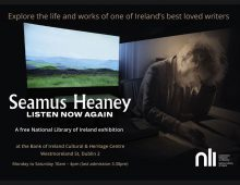'Seamus Heaney: Listen Now Again' exhibition public transport ads