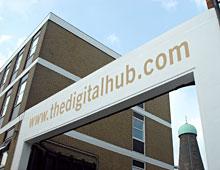 The Digital Hub – Building Signage