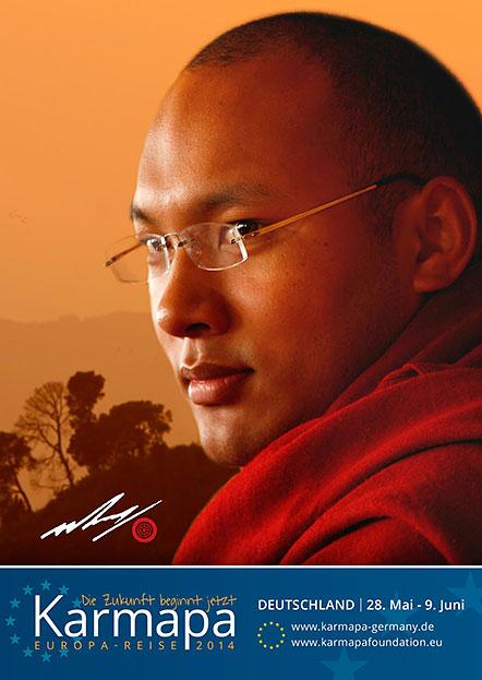 Karmapa European Visit Postcards