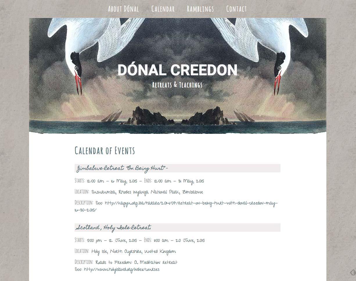 Donal Creedon website design