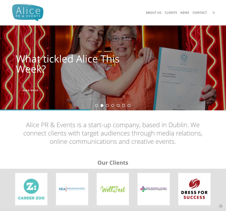 Alice PR & Events website 1