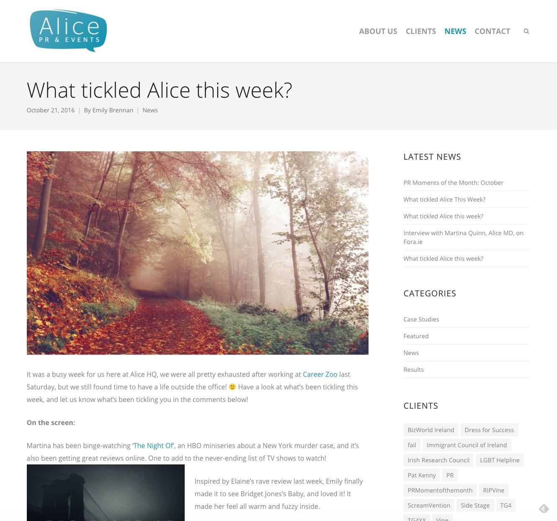 Alice PR & Events website 3