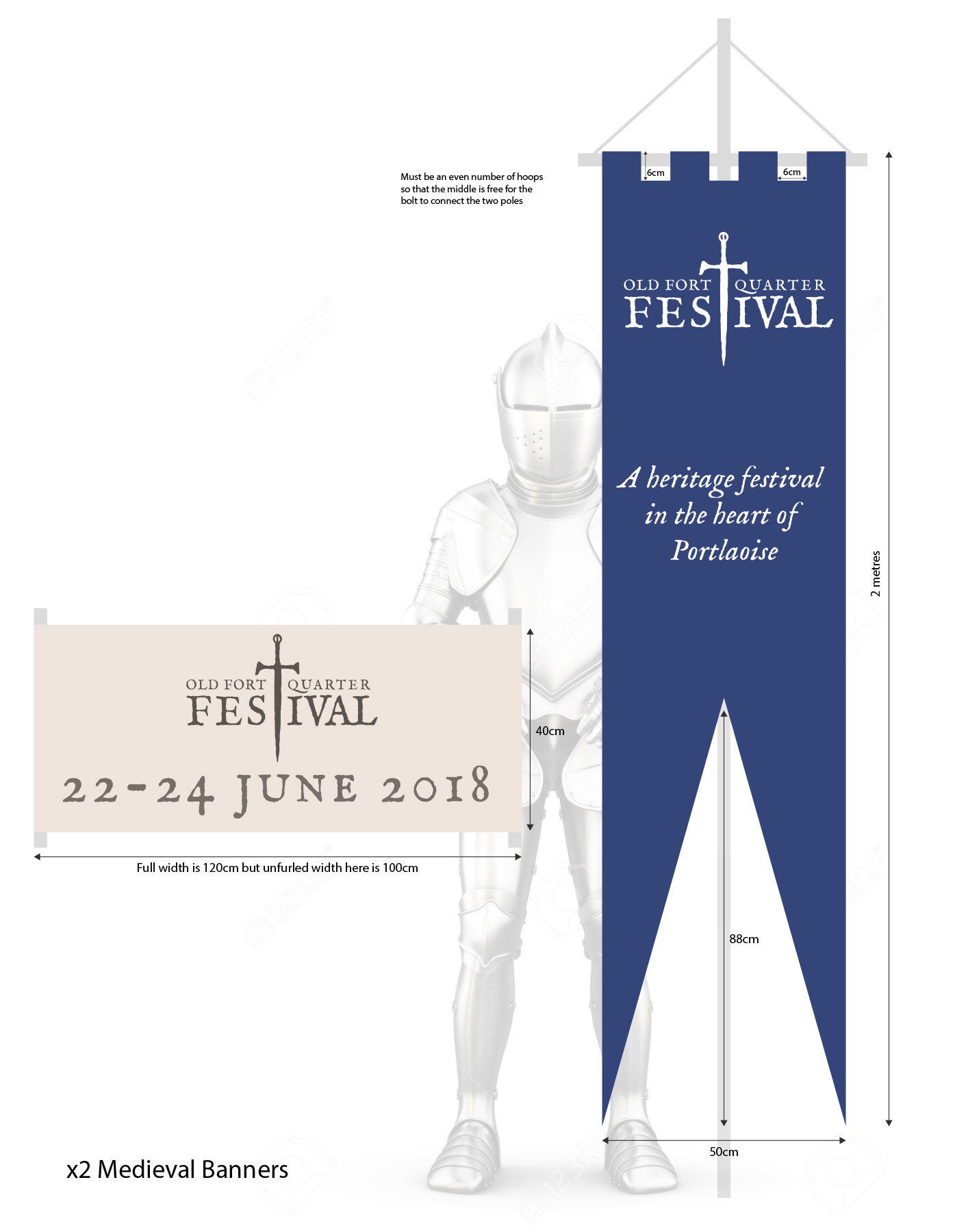 Old Fort Quarter Festival banners