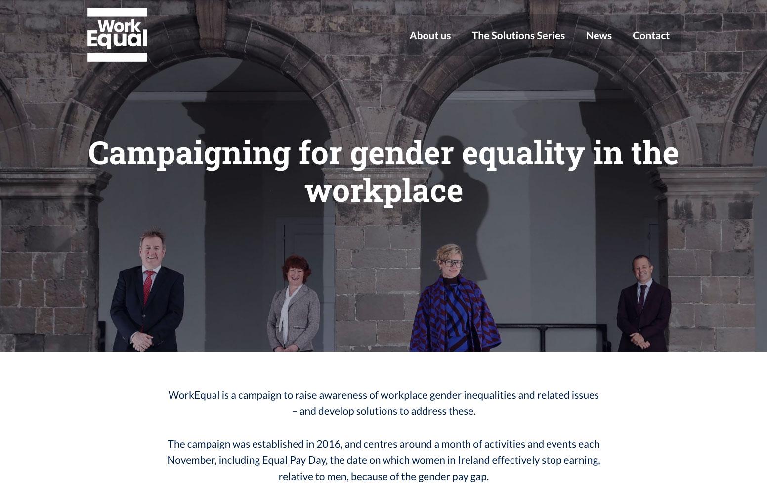 WorkEqual website 2